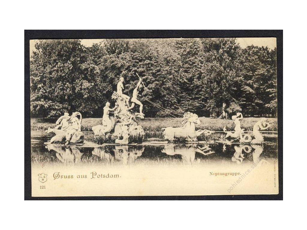Deutschland, Gruss aus Potsdam, Neptungruppe, cca 1900