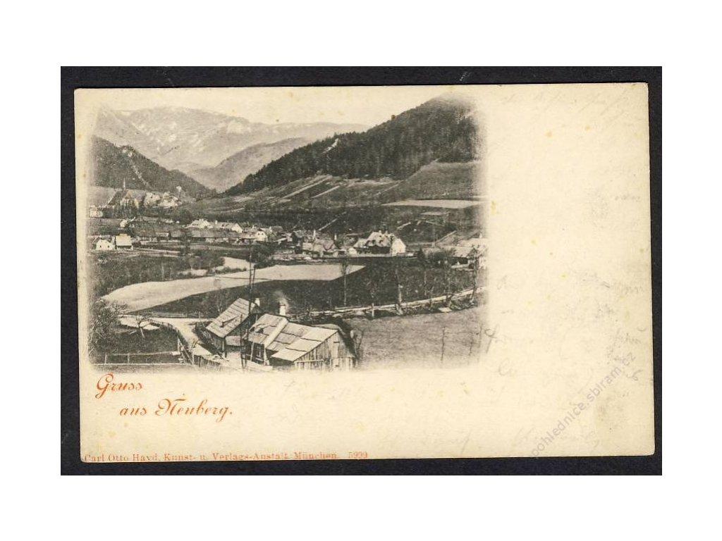 Österreich, Gruss aus Neuberg, cca 1904
