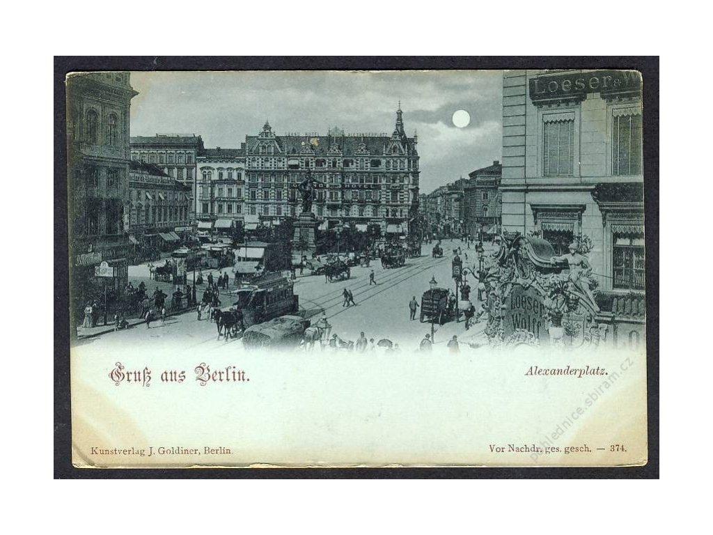 Deutschland, Gruss aus Berlin, Alexanderplatz, cca 1900