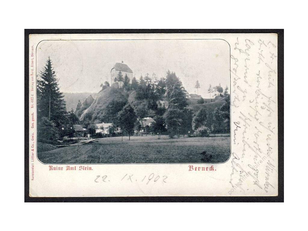 Deutschland, Berneck, Ruine Amt Stein, cca 1902