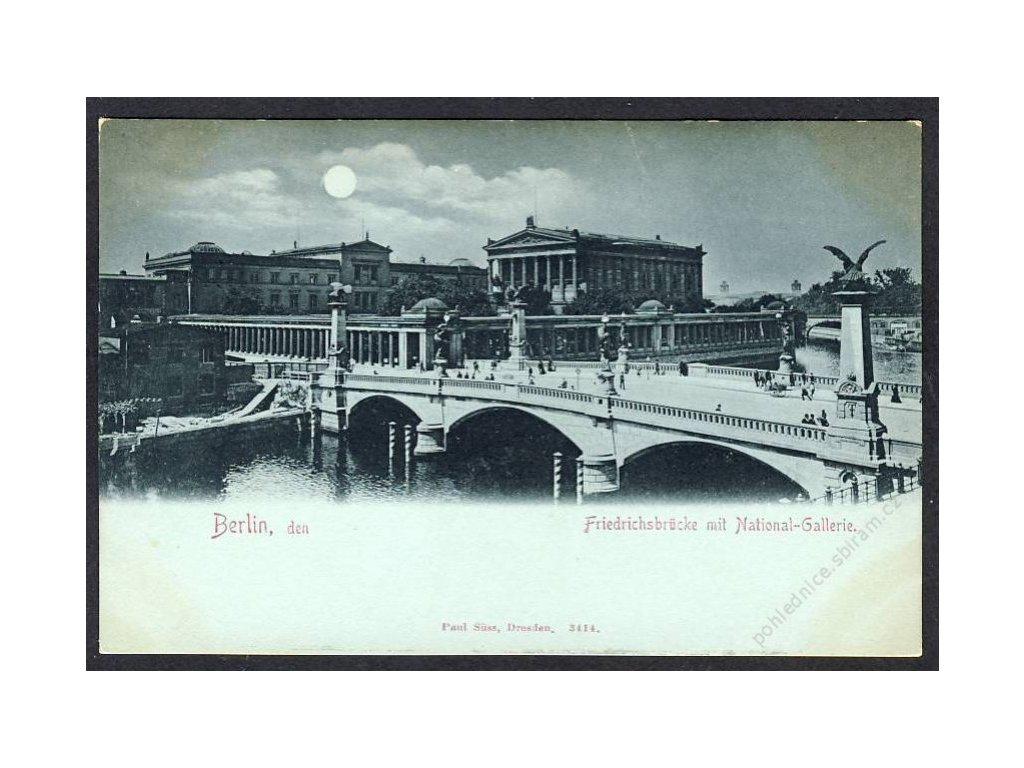Deutschland, Berlin, Friedrichsbrücke mit National-Gallerie, cca 1900
