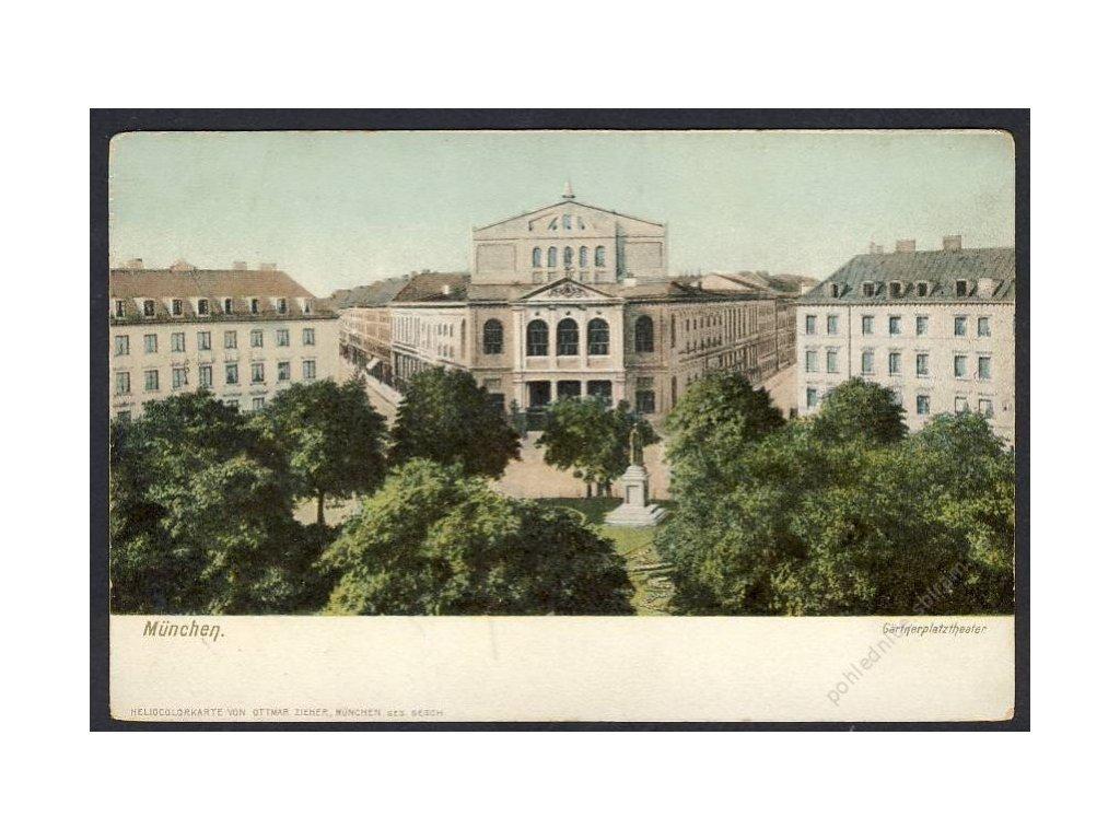 Deutschland, München, Gärtnerplatztheater, cca 1900