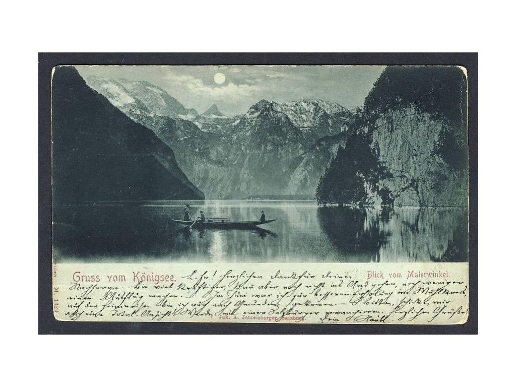 Deutschland, Gruss vom Königssee, cca 1898