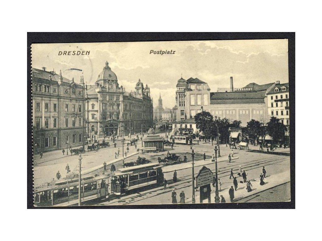 Deutschland, Dresden, Postplatz, cca 1910