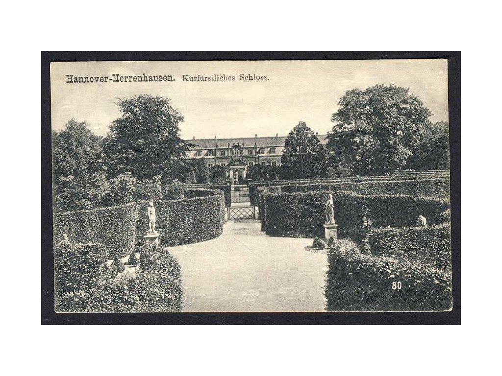 Deutschland, Hannover-Herrenhausen, Kurfürstliches Schloss, cca 1908