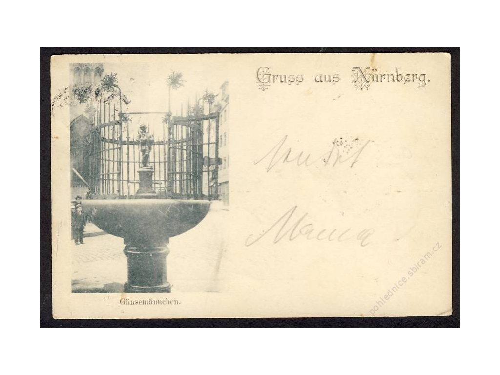 Deutschland, Gruss aus Nürnberg, Gänsemännchen, cca 1897