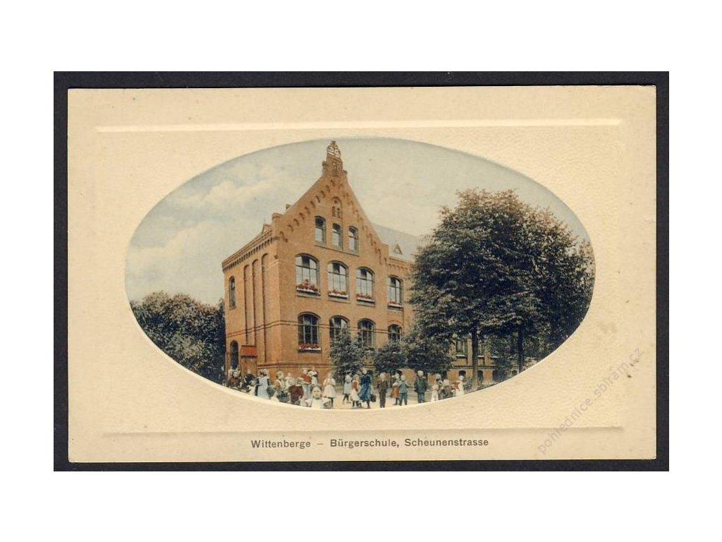 Deutschland, Wittenberge, Bürgerschule, Scheunenstrasse, cca 1915