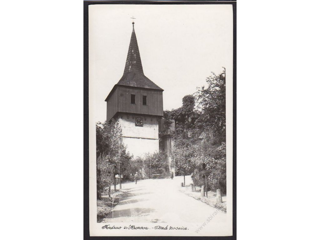 38 - Náchodsko, Hronov, Stará zvonice, cca 1940