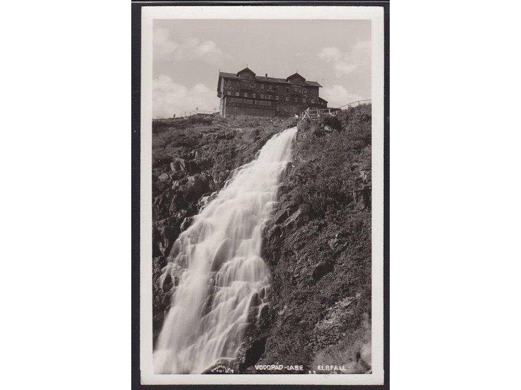 66 - Trutnovsko, vodopád Labe (Elbfall), cca 1930