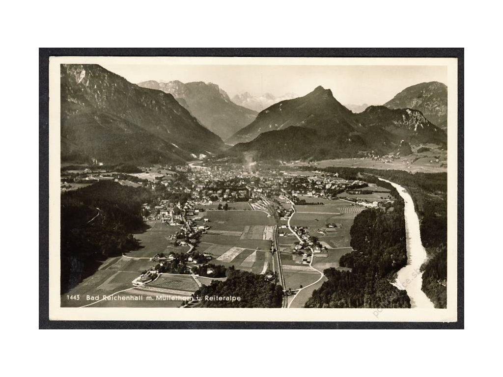 Deutschland, Bad Reichenhall m. Müllerhorn u. Reiteralpe, cca 1930