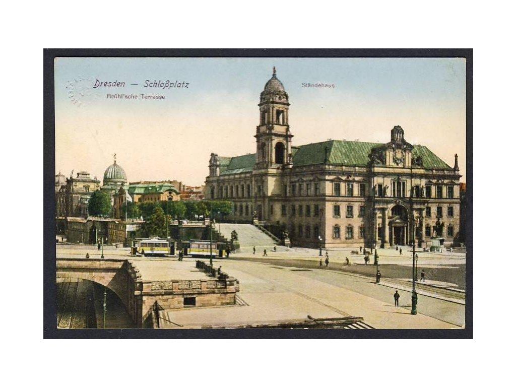 Deutschland, Dresden, Schlossplatz, Ständehaus, cca 1918