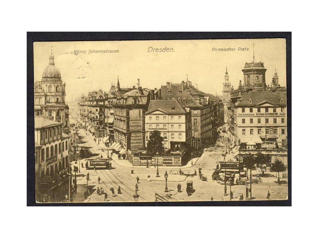 Deutschland, Dresden, Königl. Johannstr., Pirnaischer Platz, cca 1909