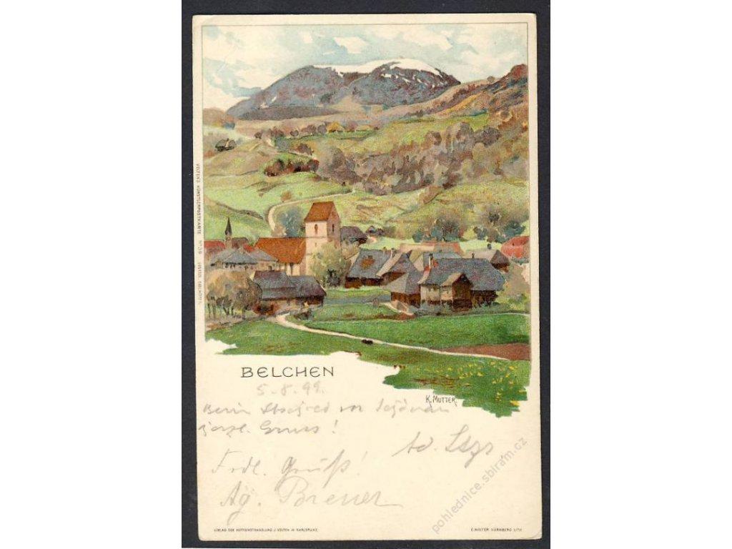 Deutschland, Belchen, Totalansicht, cca 1899