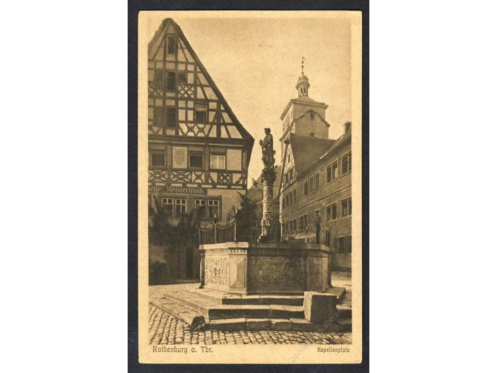 Deutschland, Rothenburg o. Tbr., Kapellenplatz, cca 1920