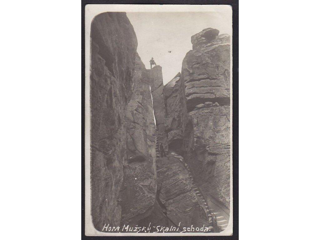 38 - Náchodsko, hora Mužský Skalní schoda, cca 1930