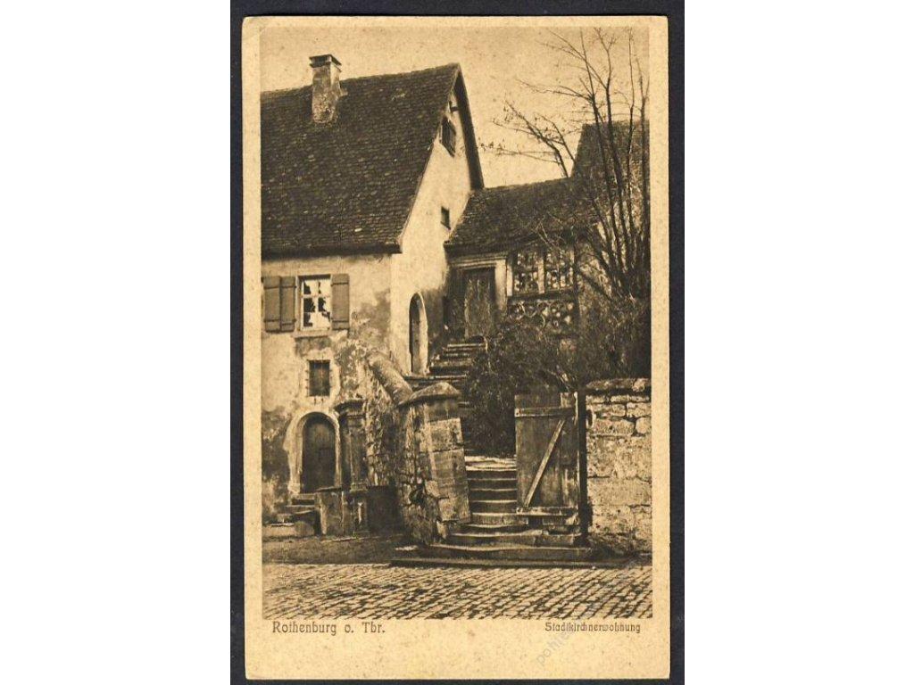 Deutschland, Rothenburg o. T., Stadkirchenwohnung, cca 1925
