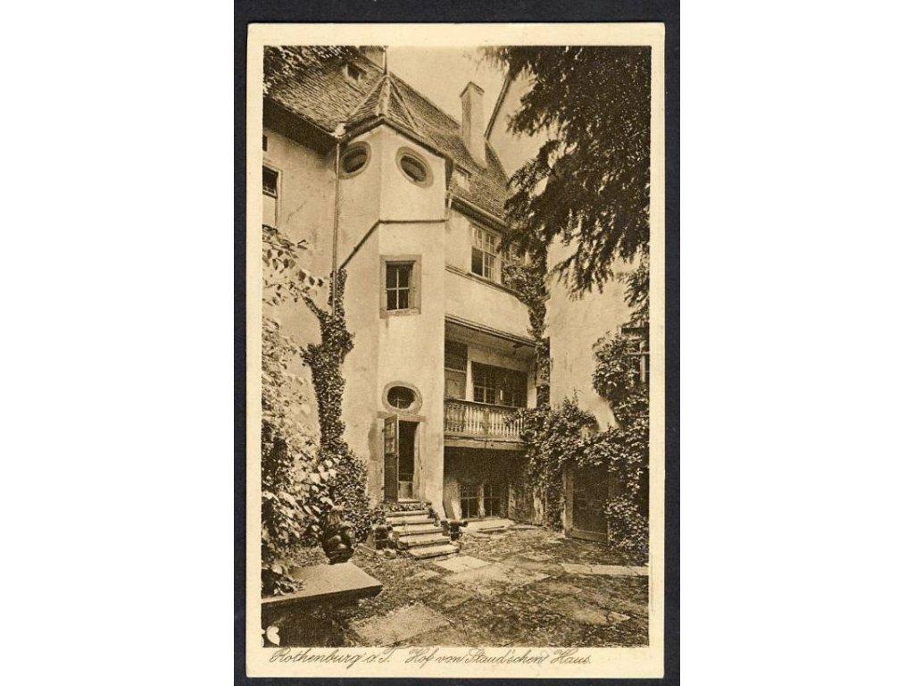 Deutschland, Rothenburg o. T., Hof von Staud´schen Haus, cca 1925