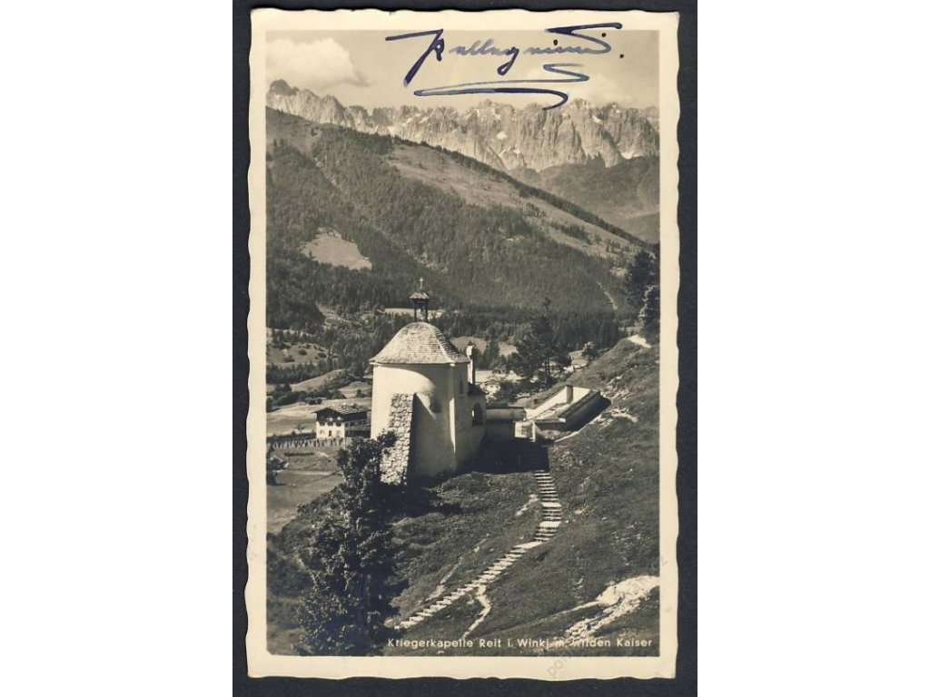 Deutschland, Kriegerkapelle, Reit i. Winkl m. wilden Kaiser, cca1936