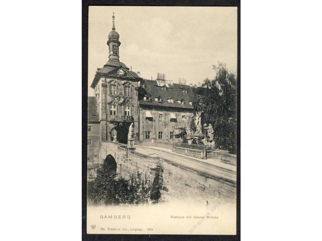 Deutschland, Bamberg, Rathaus mit oberer Brücke, cca 1900