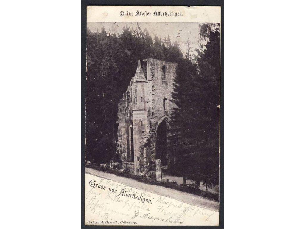 Deutschland, Gruss aus Allerheiligen, Ruine Kloster, cca 1905