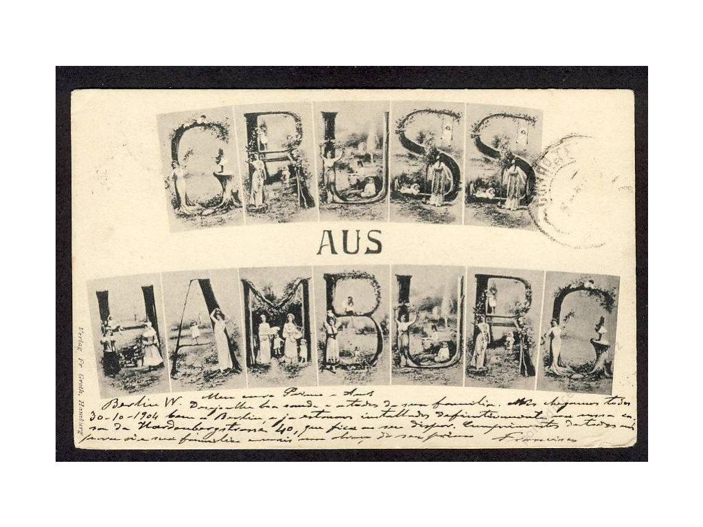 Deutschland, Gruss aus Hamburg, cca 1904