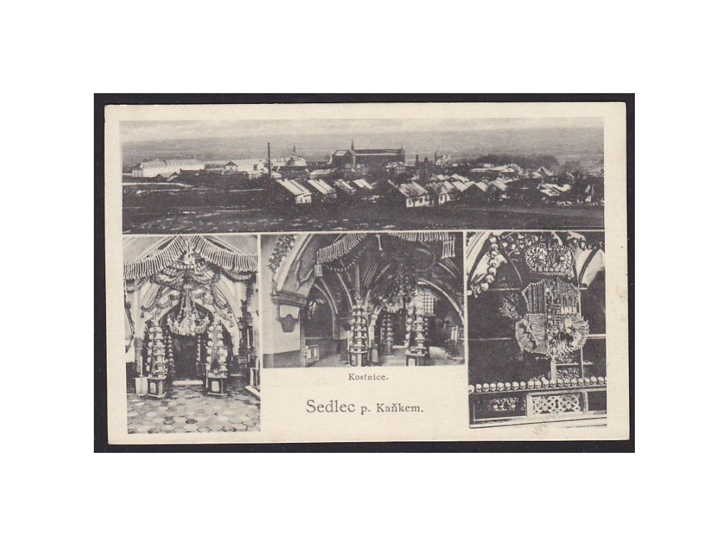 31 - Kutnohorsko, Sedlec pod Kaňkem, Kostnice, nakl. Zuna, cca 1929