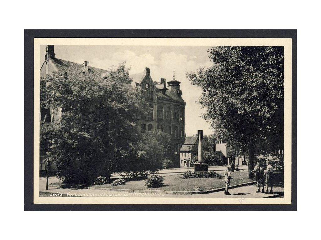 Deutschland, Zeitz, Verbandsberufsschule am Nicolaiplatz, cca 1925