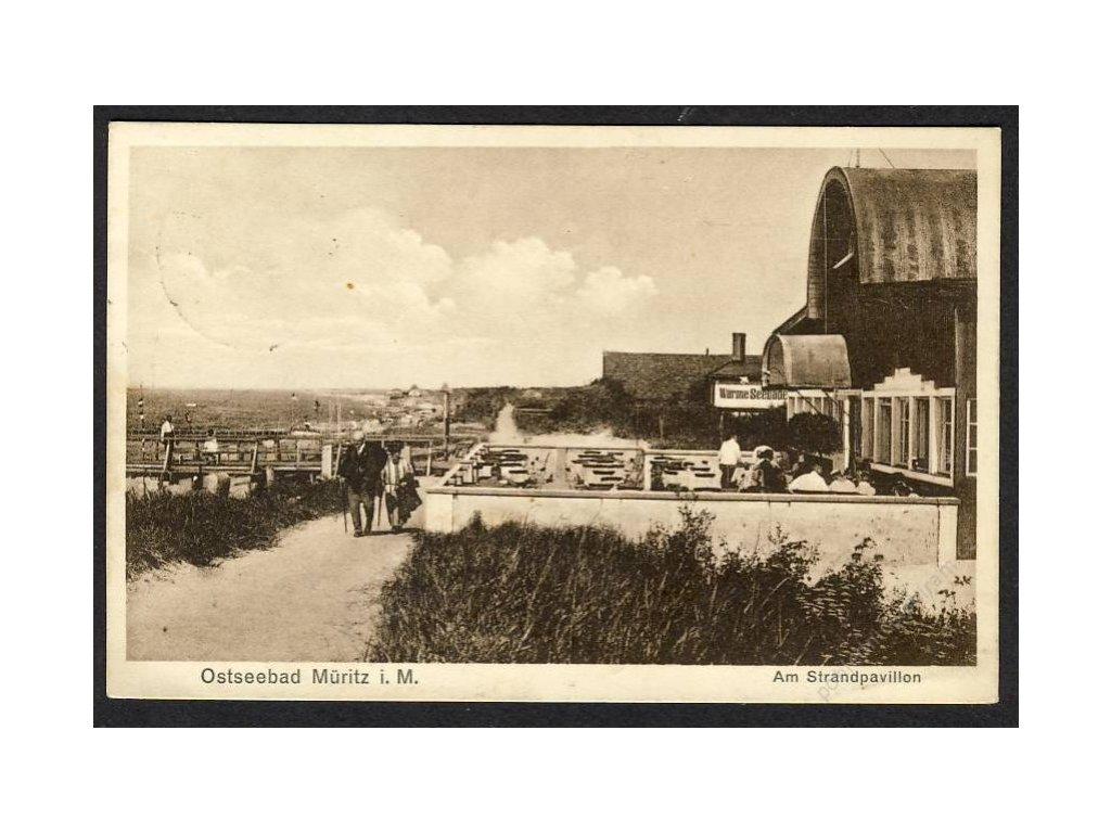 Deutschland, Ostseebad Müritz i. M., Am Strandpavillon, cca 1920