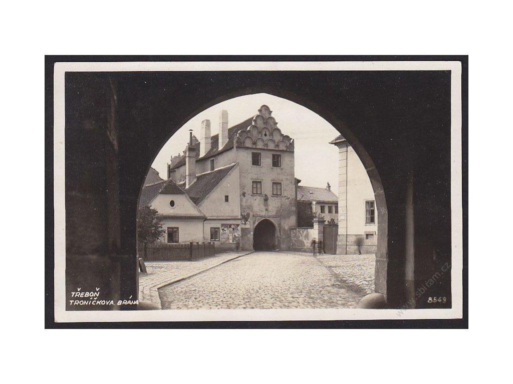 24 - Jindřichohradecko, Třeboň, Troníčkoa brána, Bromografia, cca 1935