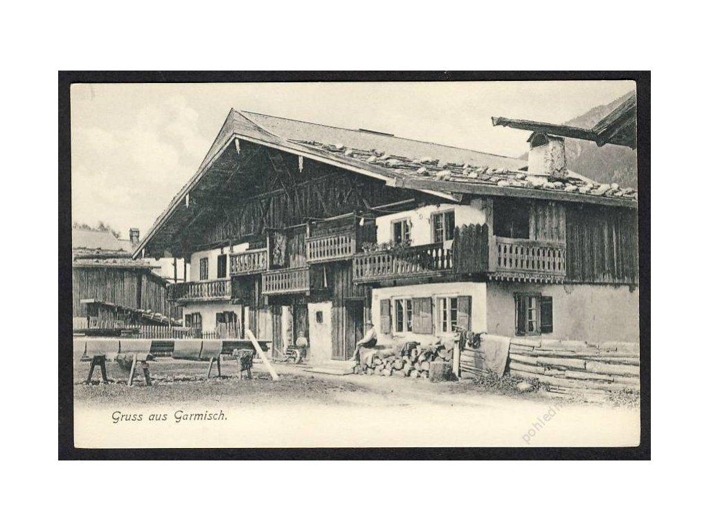Deutschland, Gruss aus Garmisch, cca 1898