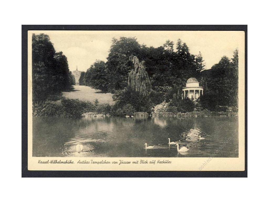 Deutschland, Kassel-Wilhemshöhe, Antikes Templchen, cca 1930