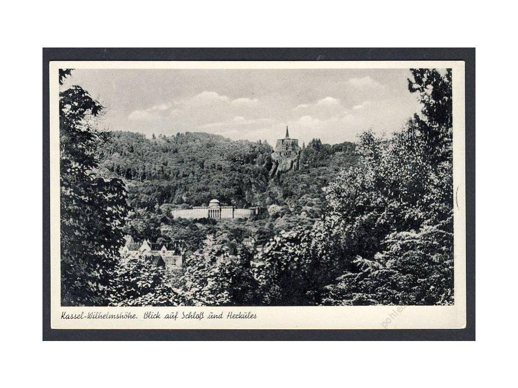 Deutschland, Kassel-Wilhelmshöhe,Blick auf Schloss und Herkules, cca 1935