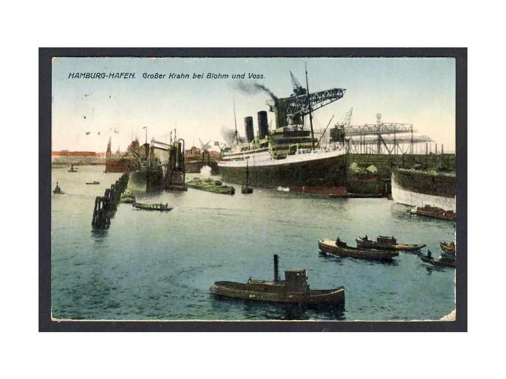 Deutschland, Hamburg-Hafen, Grosser Krahn bei Blohm u. Voss, cca 1930