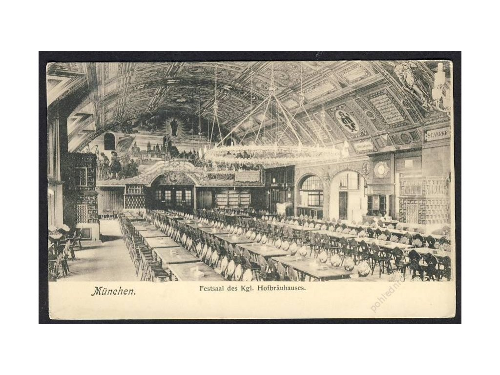 Deutschland, München, Festsaal des Kgl. Hofbräuhauses, cca 1899