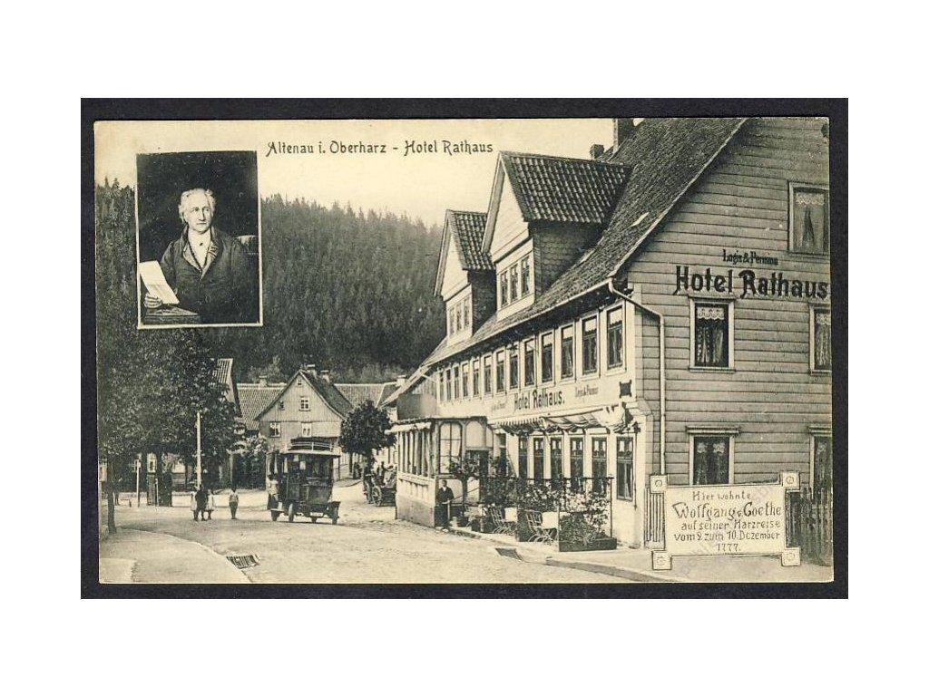 Deutschland, Altenau i. Oberharz - Hotel Rathaus, cca 1910