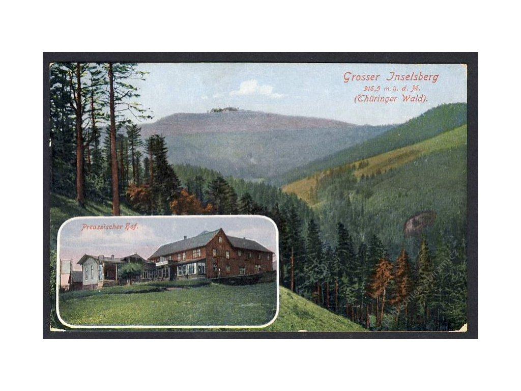 Deutschland, Gr. Inselsberg (Thür. Wald), Preussischer Hof, cca 1920