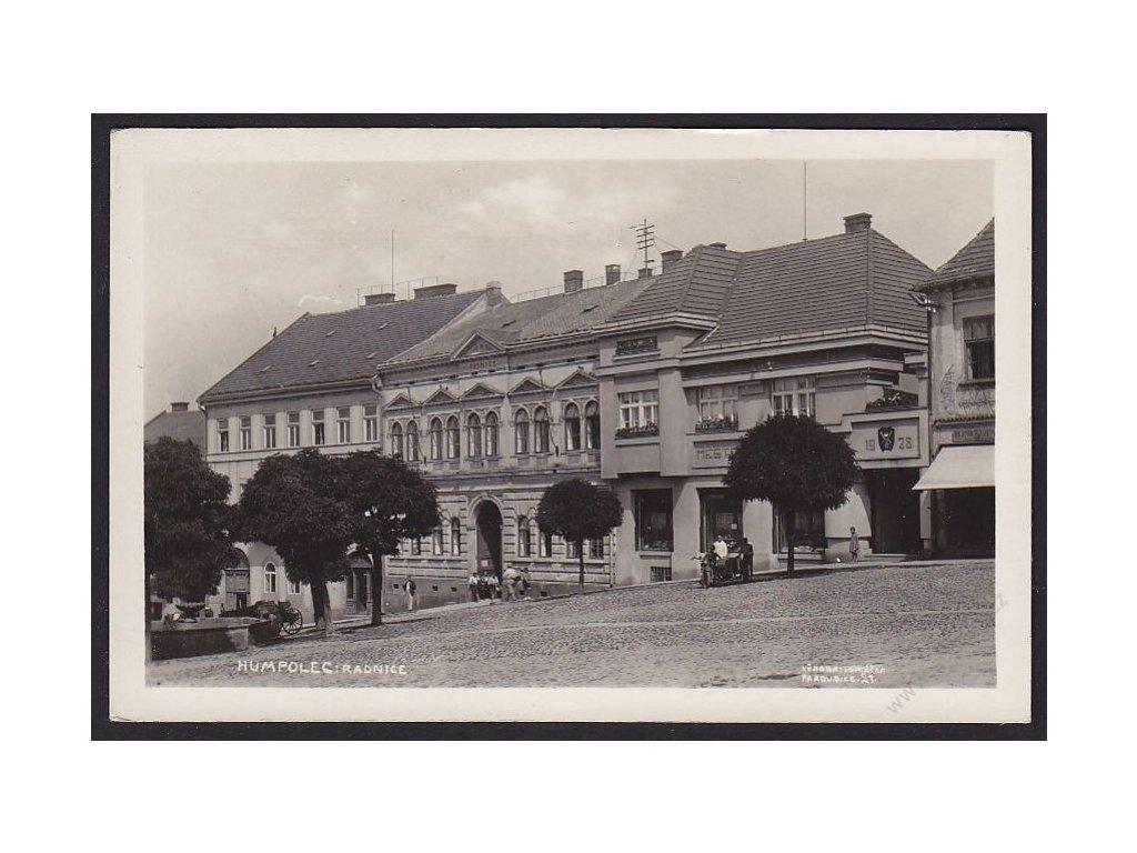 45 - Pelhřimovsko, Humpolec, radnice, cca 1935