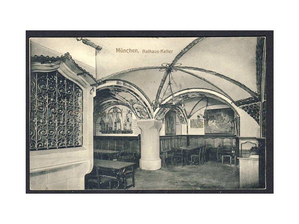 Deutschland, München, Rathaus-Keller, cca 1906