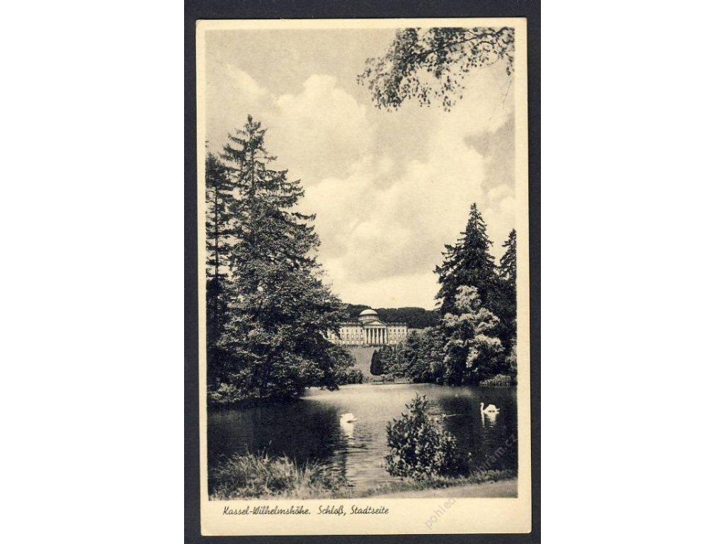Deutschland, Kassel-Wilhelmshöhe, Schloss, Stadtseite, cca 1940
