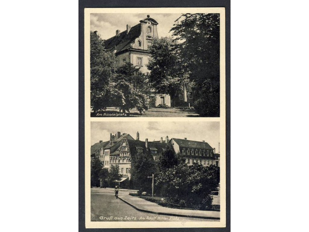 Deutschland, Gruss aus Zeitz, Am Nicolaiplatz u. Ä., cca 1935