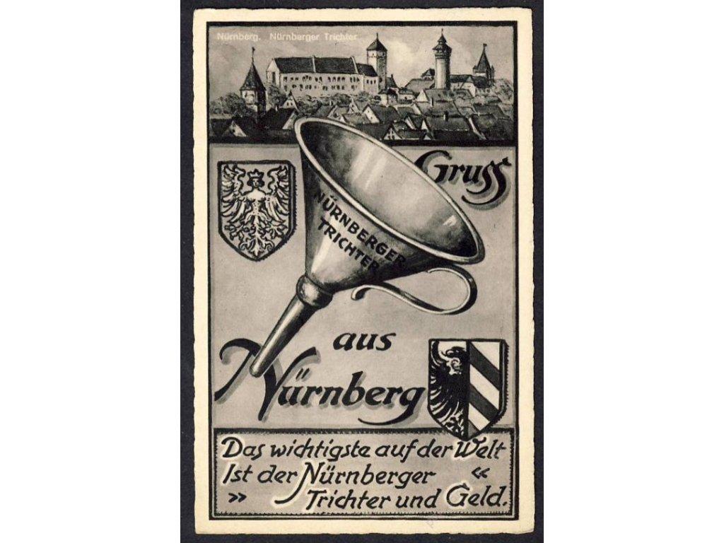 Deutschland, Gruss aus Nürnberg, Nürnberger Trichter, cca 1930
