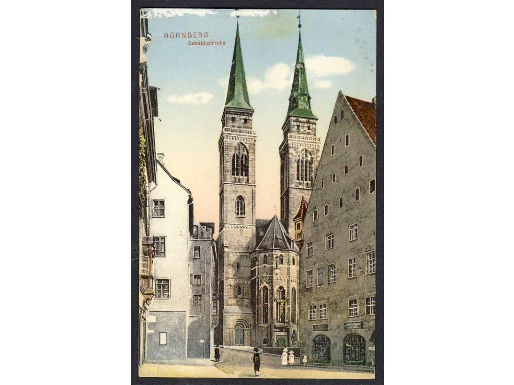 Deutschland, Nürnberg, Sebalduskirche, cca 1915