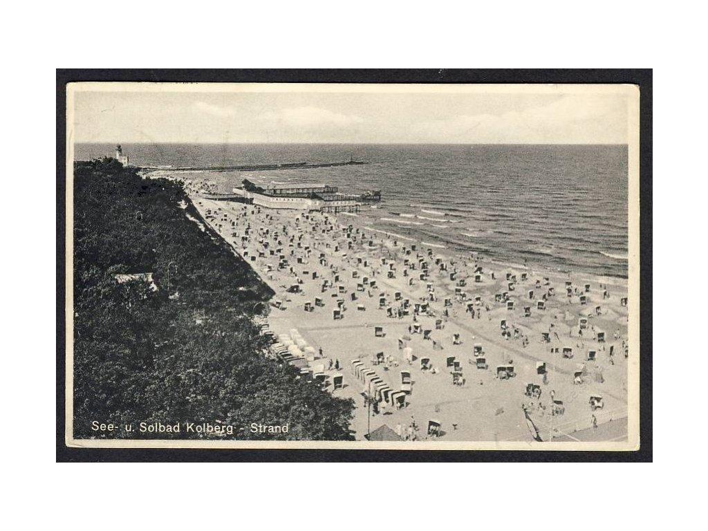 Deutschland, See- u. Solbad Kolberg - Strand, cca 1925