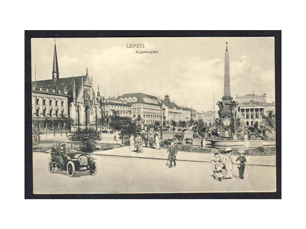Deutschland, Leipzig, Augustusplatz, cca 1913