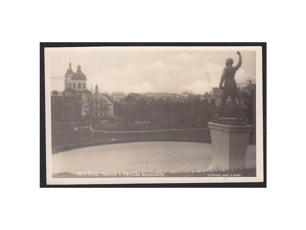 17 - Havlíčkobrodsko, Německý Brod, pomník Karla Havlíčka Borovského, cca 1930