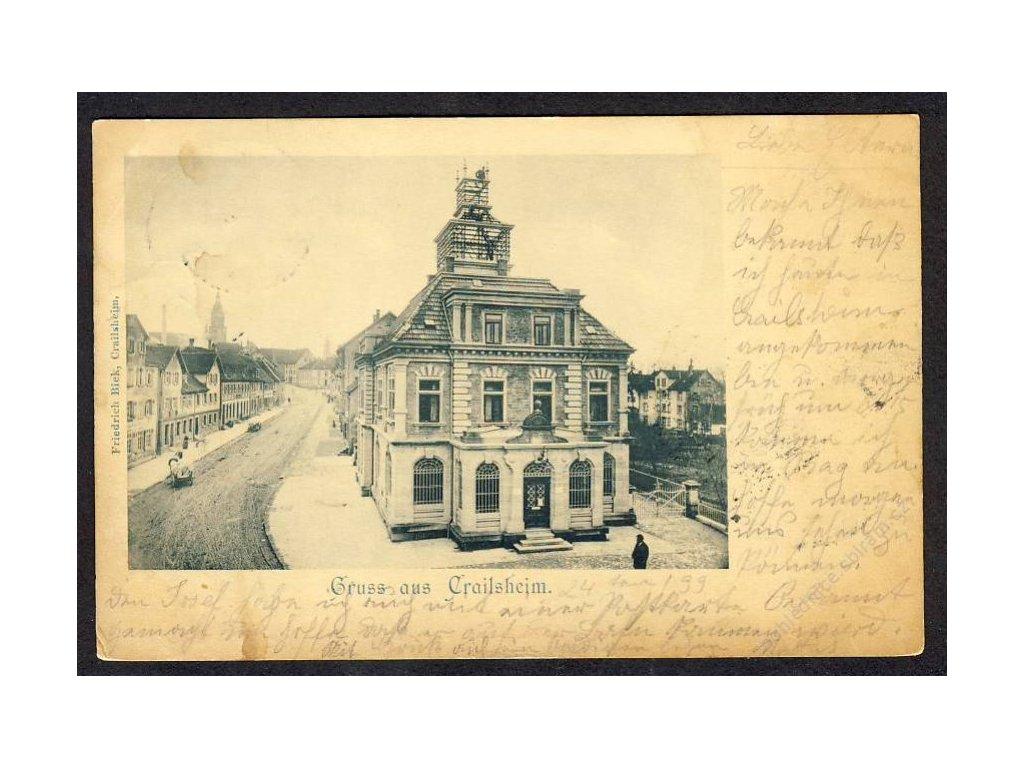 Deutschland, Gruss aus Crailsheim, Teilansicht, cca 1899