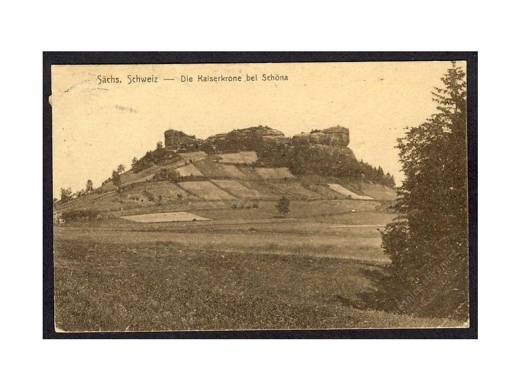 Deutschland, Sächs. Schweiz, Die Kaiserkrone bei Schöna, cca 1925