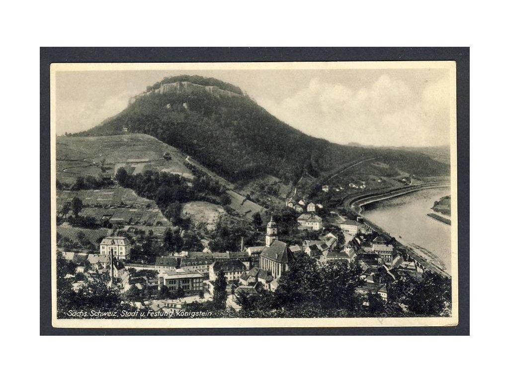 Deutschland, Sächs. Schweiz, Stadt und Festung Königstein, cca 1931