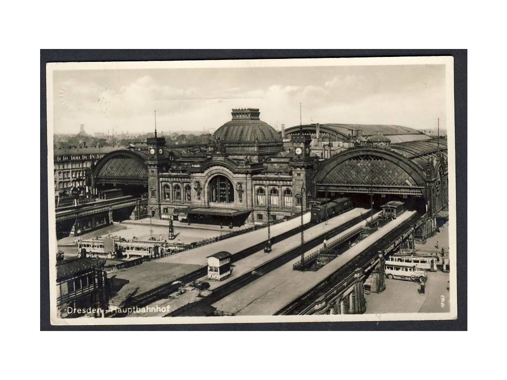 Deutschland, Dresden, Hauptbahnhof, cca 1935