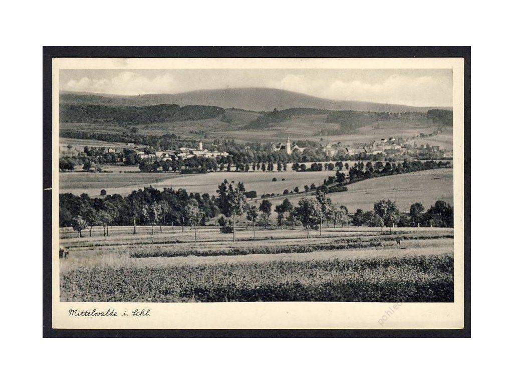 Deutschland, Mittelwalde i. Schl., Totalansicht, cca 1940